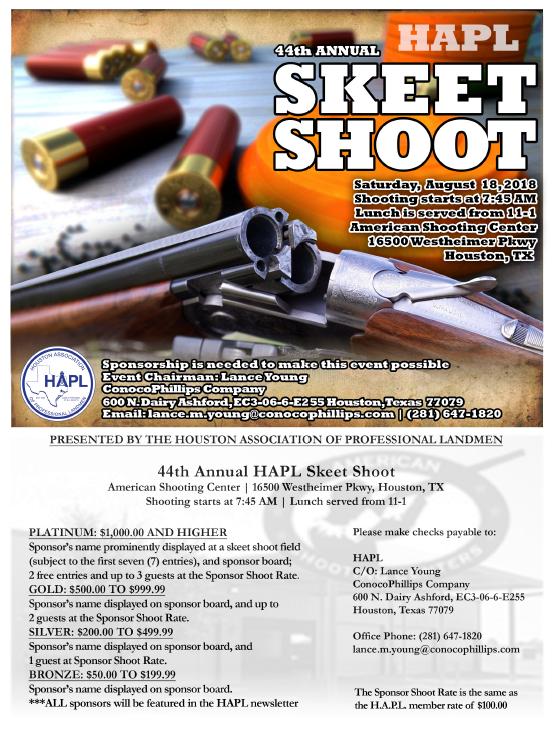 Event - HAPL 44th Annual Skeet Shoot